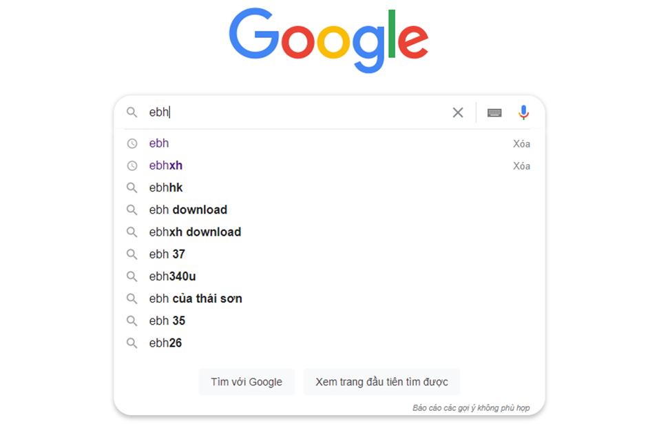 tìm kiếm phần mềm trên công cụ tìm kiếm