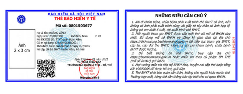 mẫu thẻ bảo hiểm y tế mới - ảnh minh họa