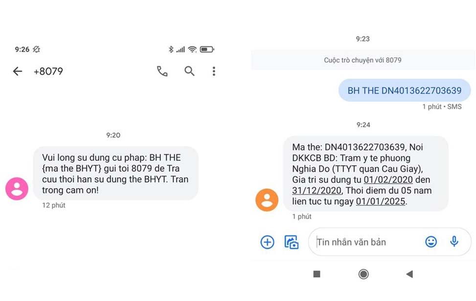 Hướng dẫn cách tra cứu gia strij sử dụng thẻ BHYT qua tin nhắn SMS